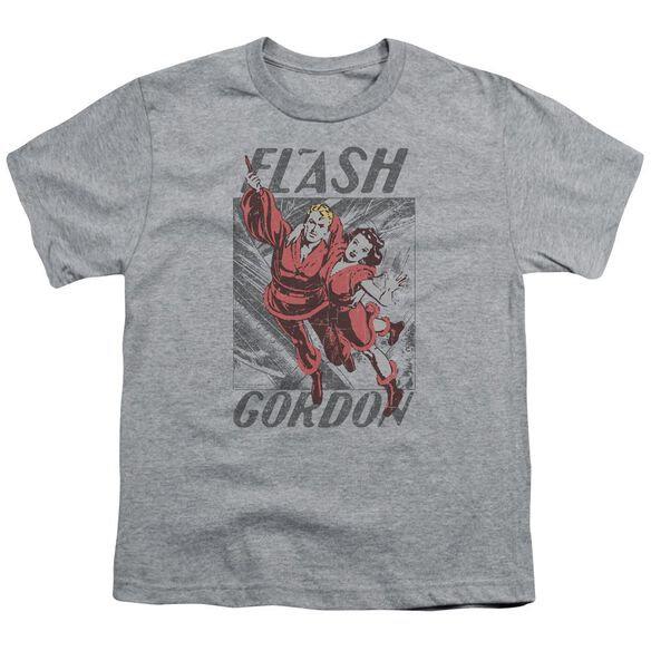 Flash Gordon To The Rescue Short Sleeve Youth Athletic T-Shirt