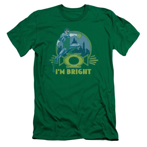 Lantern I'm Bright Premuim Canvas Adult Slim Fit Kelly