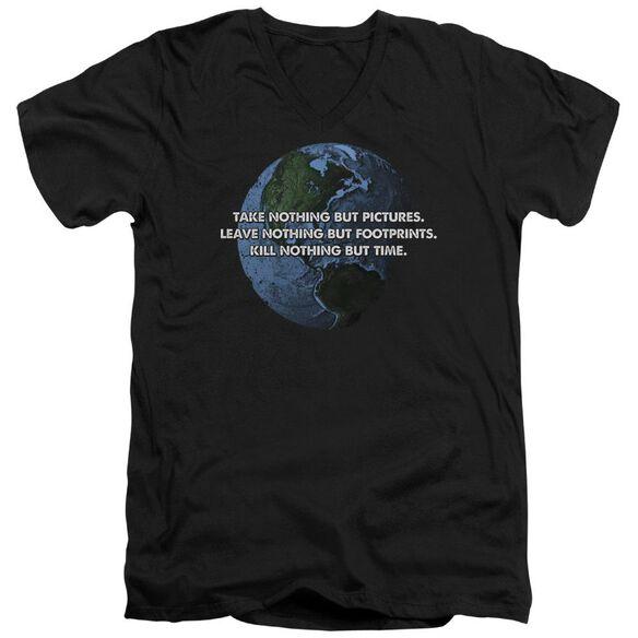 Take Nothing Short Sleeve Adult V Neck T-Shirt