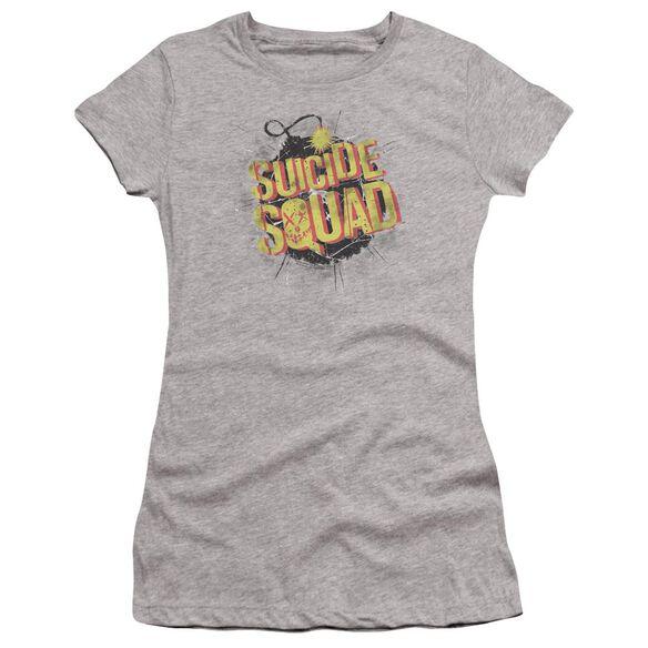 Suicide Squad Vintage Bomb Premium Bella Junior Sheer Jersey Athletic