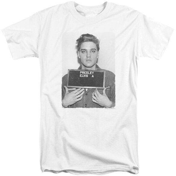 Elvis Army Mug Shot Short Sleeve Adult Tall T-Shirt