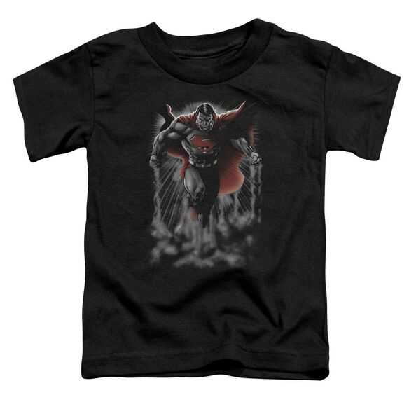 SUPERMAN ABOVE THE CLOUDS - S/S TODDLER TEE - BLACK - T-Shirt