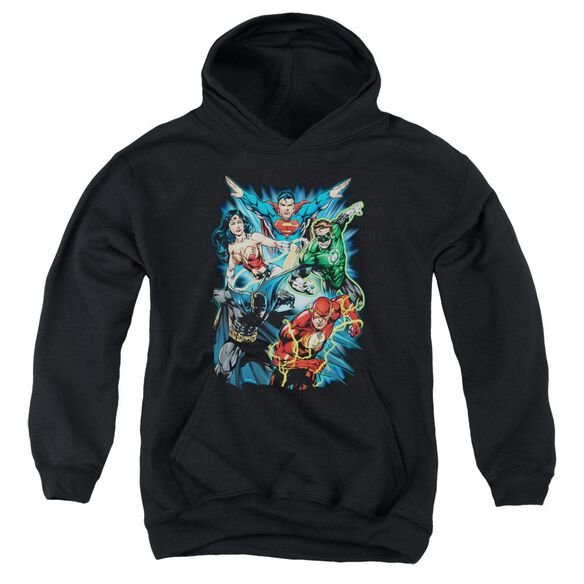 Jla Jl Assemble Youth Pull Over Hoodie