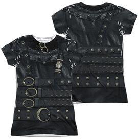 Edward Scissorhands Edward Costume (Front Back Print) Short Sleeve Junior Poly Crew T-Shirt