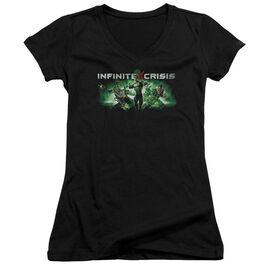 Infinite Crisis Ic Green Junior V Neck T-Shirt