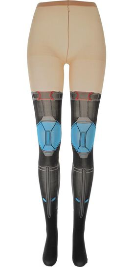 Avengers Black Widow Suit Footed Tights