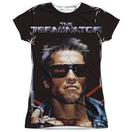 Terminator Poster Short Sleeve Junior Poly Crew T-Shirt
