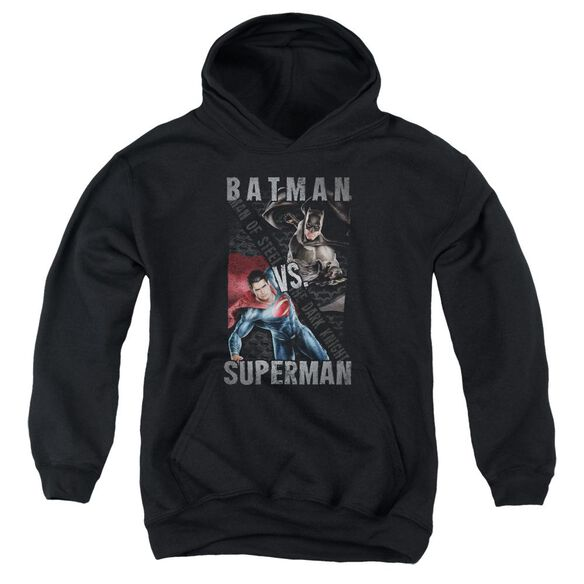 Batman Vs Superman Hero Split Youth Pull Over Hoodie