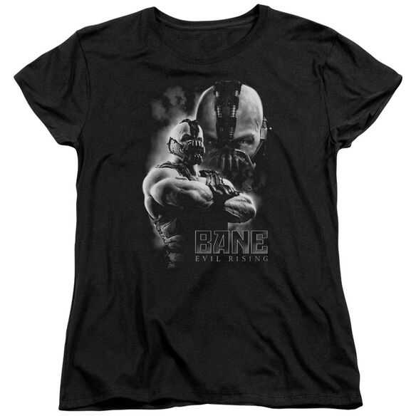 Dark Knight Rises Evil Rising Short Sleeve Womens Tee Black T-Shirt