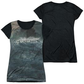 Last Ship Out To Sea 2 Short Sleeve Junior Poly Black Back T-Shirt