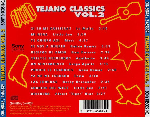 Tejano Classics Vol 2 994