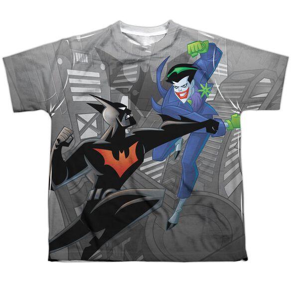 Batman Beyond Baddie Battle Short Sleeve Youth Poly Crew T-Shirt