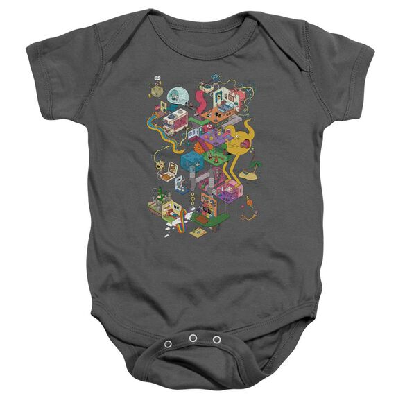 Uncle Grandpa Inside The Rv Infant Snapsuit Charcoal