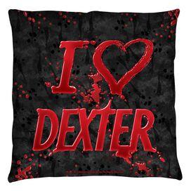 Dexter I Heart Dexter Throw