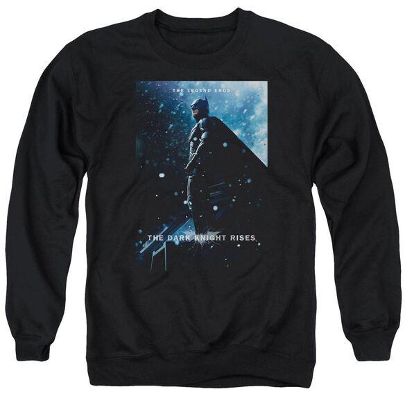 Dark Knight Rises Batman Poster Adult Crewneck Sweatshirt
