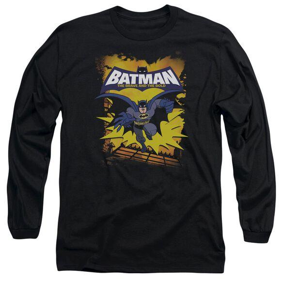 Batman Bb Rooftop Leap Long Sleeve Adult T-Shirt
