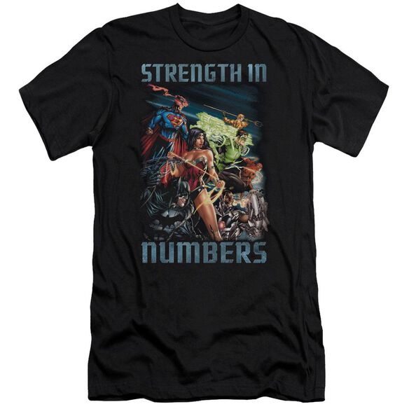 Jla Strength In Number Short Sleeve Adult T-Shirt