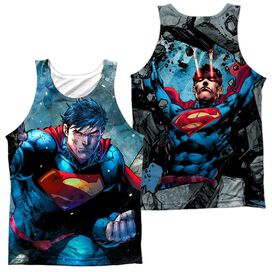 Superman Rumble (Front Back Print) Adult 100% Poly Tank Top