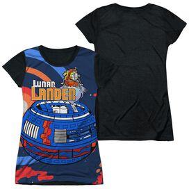 Atari Lunar Landing Short Sleeve Junior Poly Black Back T-Shirt