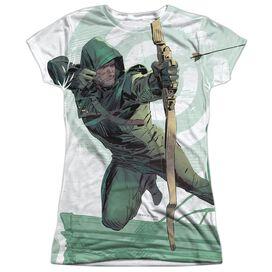 Arrow City Bullseye Short Sleeve Junior Poly Crew T-Shirt