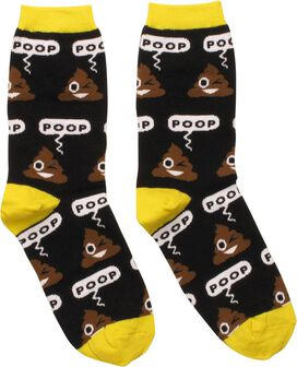 Poop Emoji Ladies Crew Socks