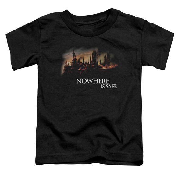 Harry Potter Burning Hogwarts Short Sleeve Toddler Tee Black T-Shirt