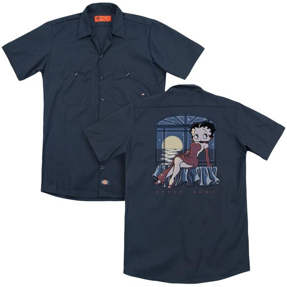 Betty Boop Moonlight (Back Print) Adult Work Shirt