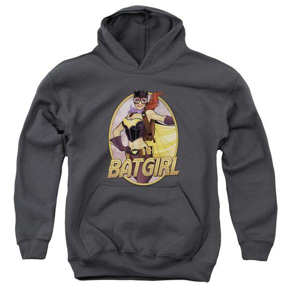 Jla Batgirl Bombshell Youth Pull Over Hoodie