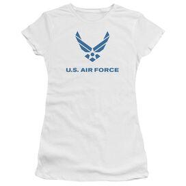 Air Force Distressed Logo Premium Bella Junior Sheer Jersey