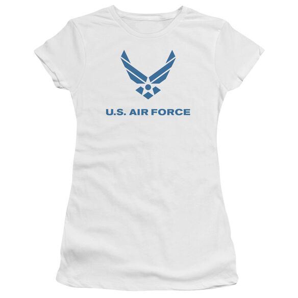 Air Force Distressed Logo Premium Bella Junior Sheer Jersey