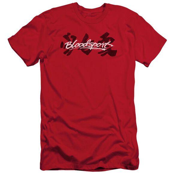 Bloodsport Kanji Short Sleeve Adult T-Shirt