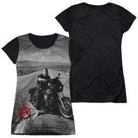 Sons Of Anarchy Open Road Short Sleeve Junior Poly Black Back T-Shirt