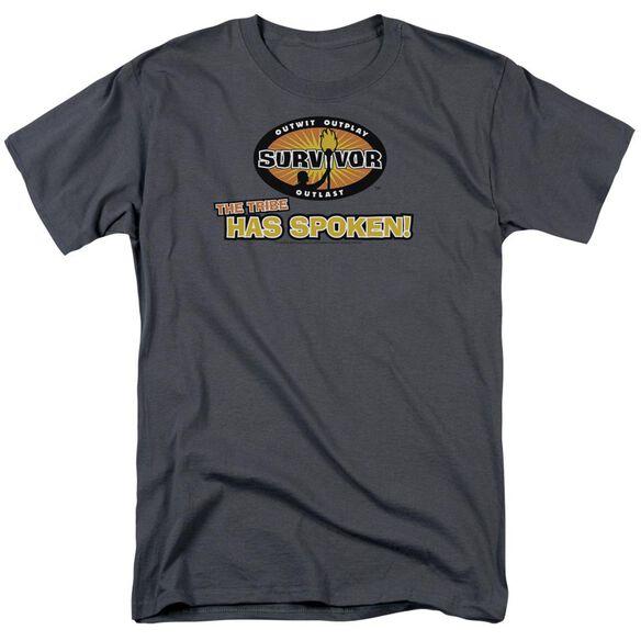 SURVIVOR TRIBE HAS SPOKEN - S/S ADULT 18/1 - CHARCOAL T-Shirt