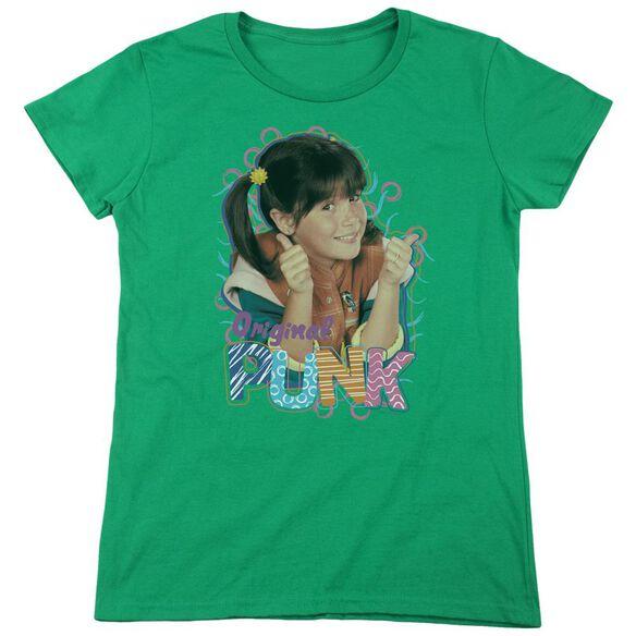 Punky Brewster Original Punk Short Sleeve Womens Tee Kelly Green T-Shirt