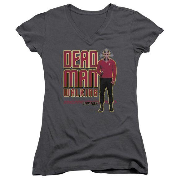 Star Trek Dead Man Walking Junior V Neck T-Shirt