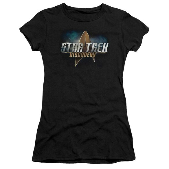 Star Trek Discovery Discovery Logo Hbo Short Sleeve Junior Sheer T-Shirt