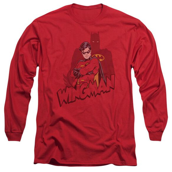 Batman Wingman Long Sleeve Adult T-Shirt