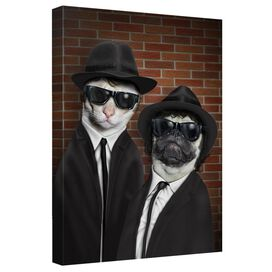Pets Rock Brothers Canvas Wall Art With Back Board