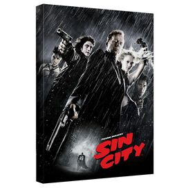 Sin City Poster Canvas Wall Art With Back Board