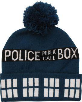 Doctor Who TARDIS Blue Pom Beanie