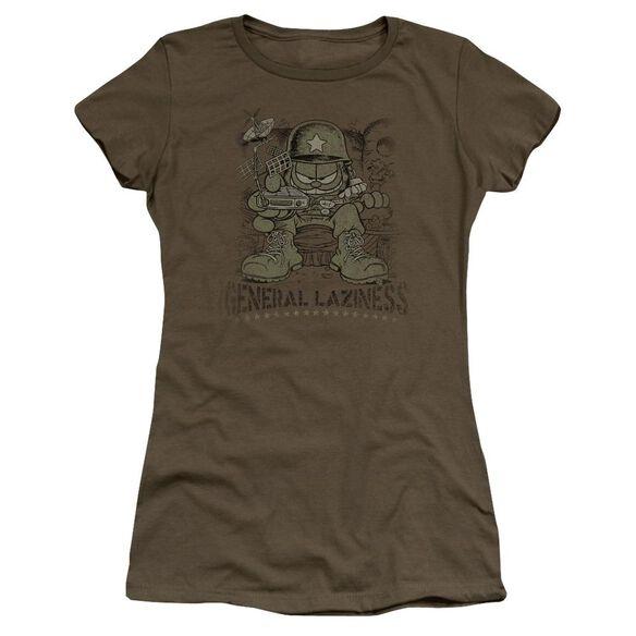 Garfield General Laziness Premium Bella Junior Sheer Jersey Military