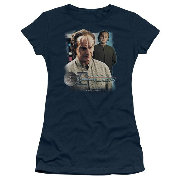 Star Trek Doctor Phlox Short Sleeve Junior Sheer T-Shirt