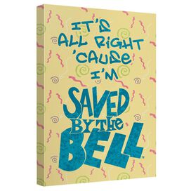 Saved By The Bell All Right Canvas Wall Art With Back Board