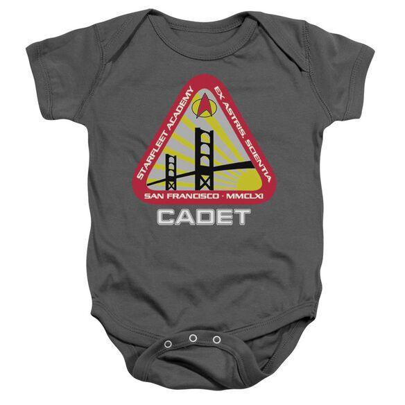 Star Trek Starfleet Cadet Infant Snapsuit Charcoal Md