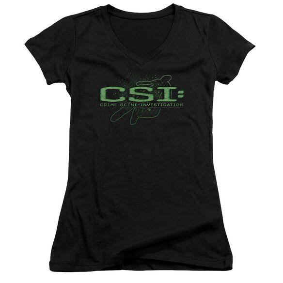 Csi Sketchy Shadow Junior V Neck T-Shirt