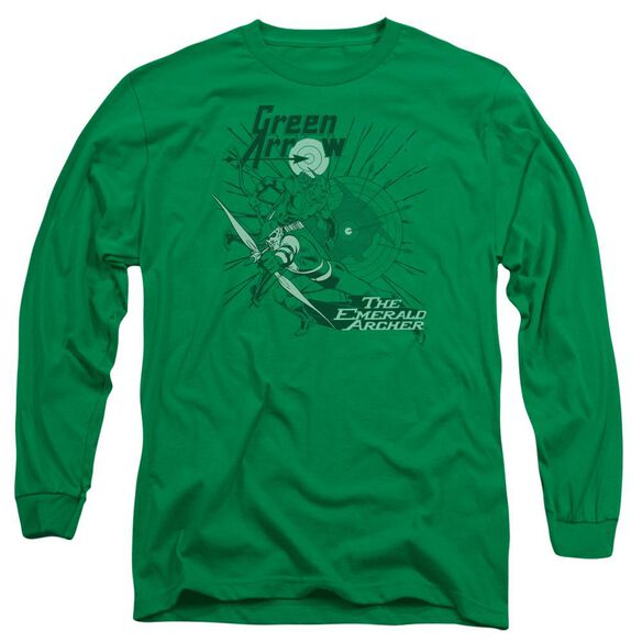Dc The Emerald Archer Long Sleeve Adult Kelly T-Shirt