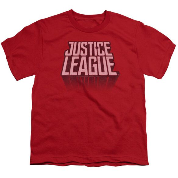 Justice League Movie League Distressed Short Sleeve Youth T-Shirt