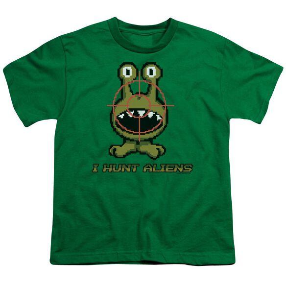 I Hunt Aliens Short Sleeve Youth Kelly T-Shirt