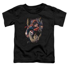 Superman Orbit Short Sleeve Toddler Tee Black T-Shirt