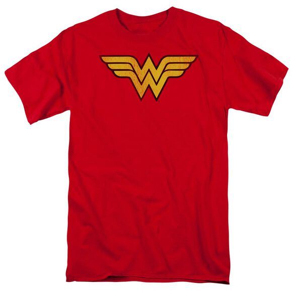 Dc Wonder Woman Logo Dist Short Sleeve Adult T-Shirt